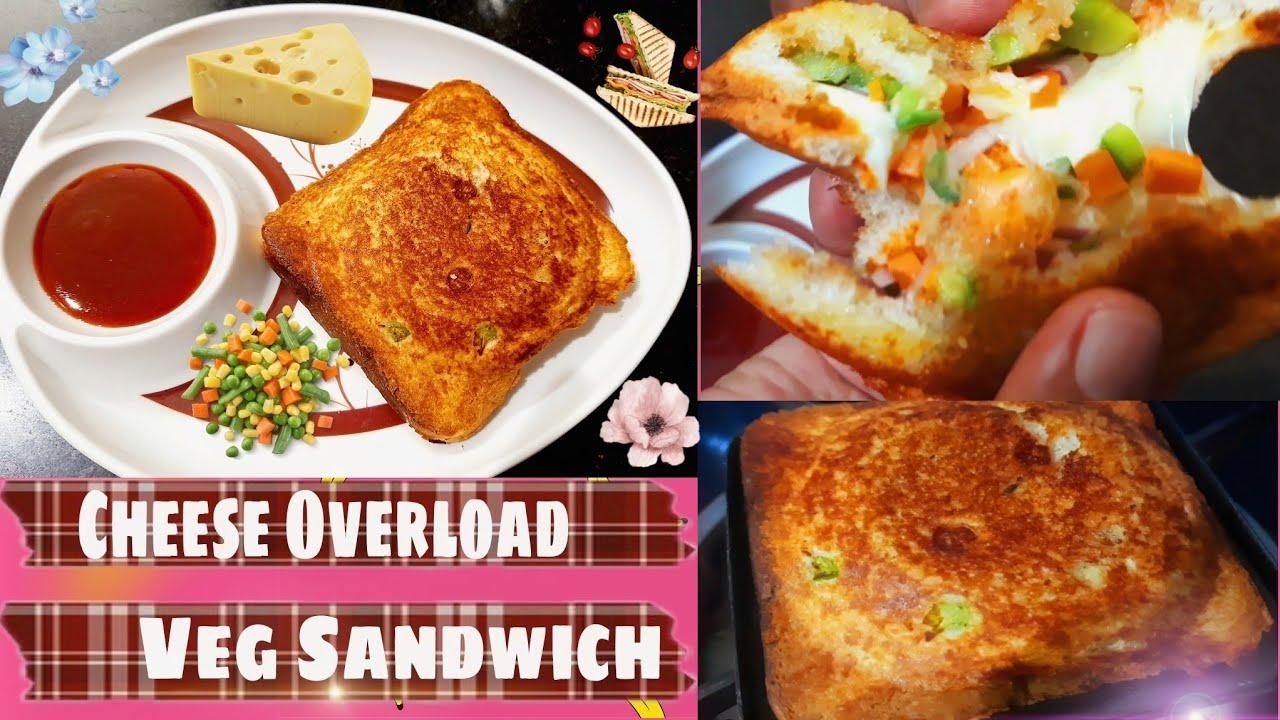 Download चीज़ ओवरलोडेड वेज सैंडविच   मेयोनेज़ के बिना सैंडविच   झटपट नाश्ते की रेसिपी 2 मिनट