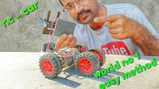 How to make a remote control car || world no1easy method ||