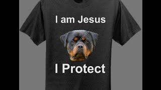 Jesus Tshirt Rottweiler Tee Shirt