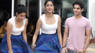 Janhvi Kapoor Escapes OPPS MOMENT During Dhadak Promotion | Ishaan Khattar