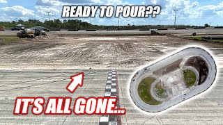 Building the Freedom Factory a GIANT Burnout/Drift Pad Part 2!!! (ripping out EVERYTHING)