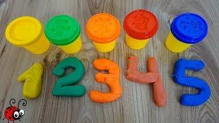 Invatam Cifrele si Culorile cu ajutorul Plastilinei   Vide Educativ pentru Copii