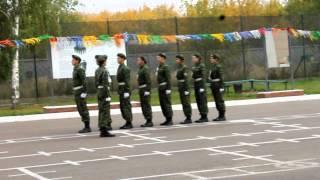 Строевая подготовка Нурлатской команды в г. Казань