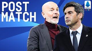 Milan 2-0 Roma | Pioli & Fonseca Post Match Press Conference | Serie A TIM