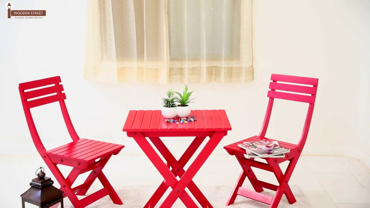 Table And Chair Sets Myrick Balcony Set Red