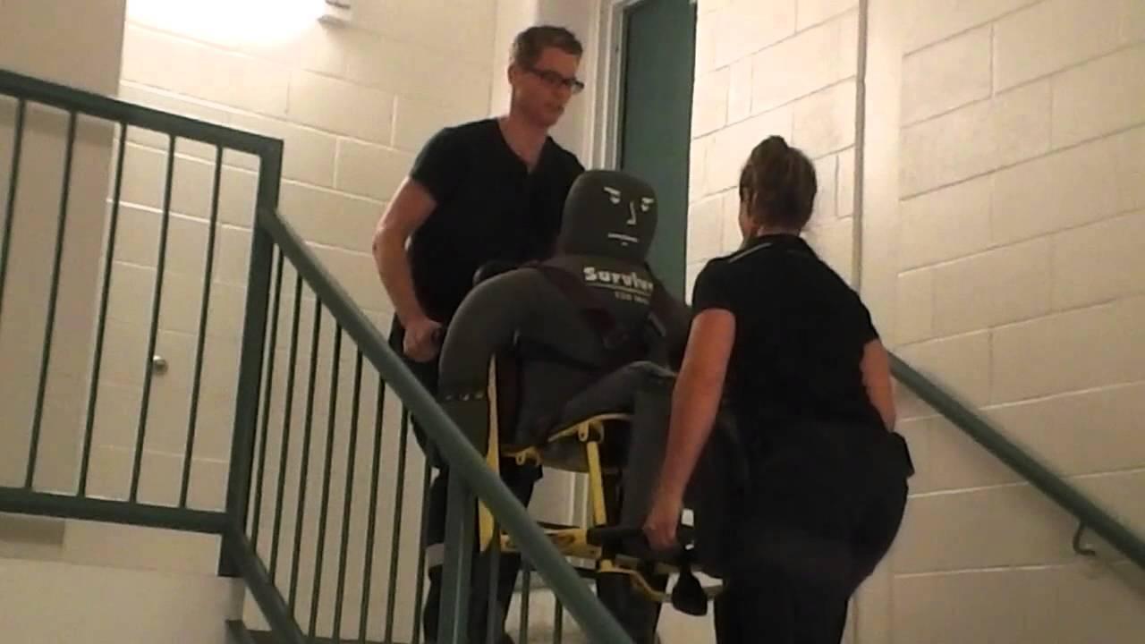 ems stair chair wheelchair donation lift youtube