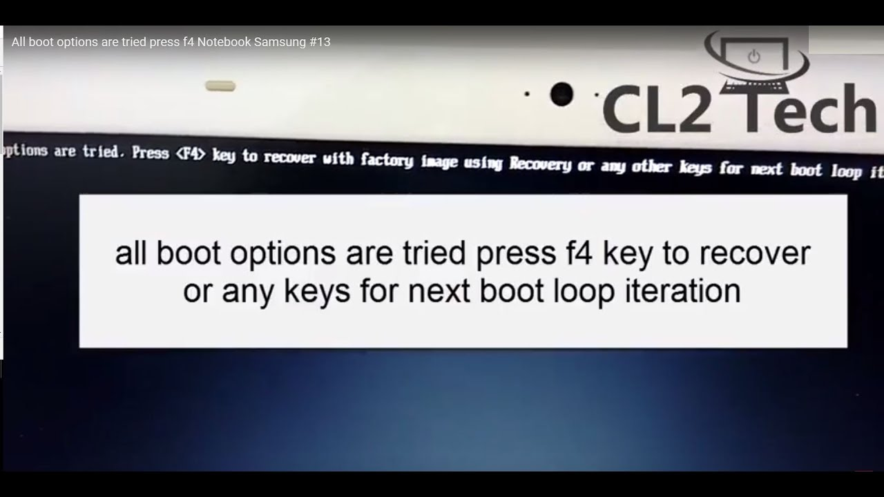 Notebook samsung all boot options are tried - All Boot Options Are Tried Press F4 Notebook Samsung 13