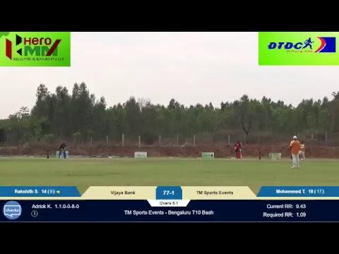 TM Sports Events - Bangalore T10 Bash: TMsports vs Vijaya bank