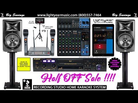 Recording Studio Home Karaoke System With Bluetooth, Pro Wireless Mics, Yamaha MG10XU Mixer & More