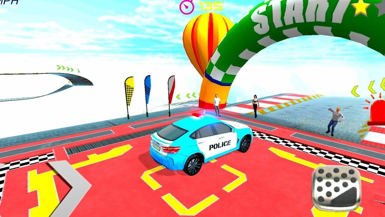 ميجا رامب حيلة سيارة شرطة 2020 1# - محاكي القيادة - العاب سيارات