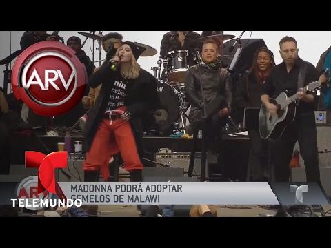 Madonna adoptó a gemelas de Malawi | Al Rojo Vivo | Telemundo