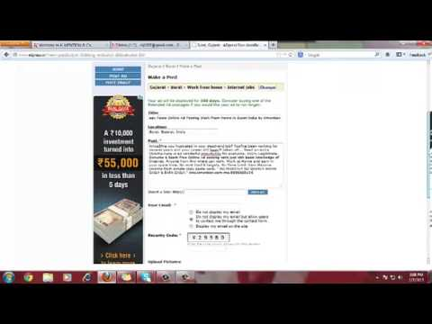 How to post in classiffied website Ad-Posting Work Demo - Hindi k-mention