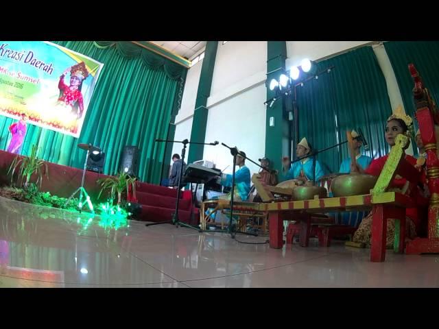Pemusik dari kab ogan ilir Lomba tari kreasi 2016 pekan budaya pelajar sumatra selatan 2016