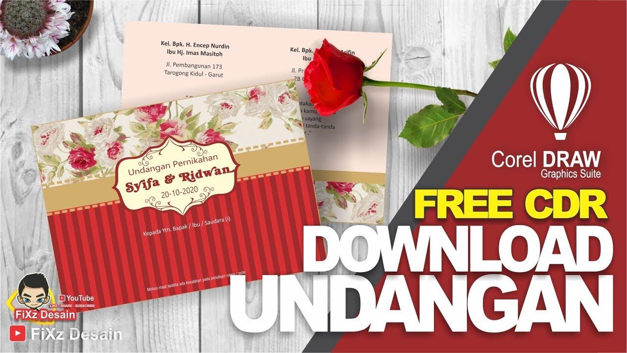 Free Cdr Wedding Invitation Template Coreldraw 06