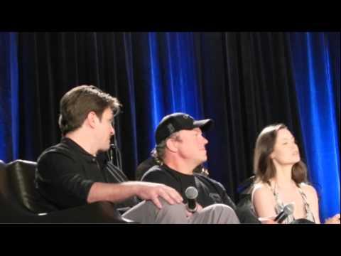 Nathan Fillion, Adam Baldwin, and Summer Glau 2015 Wizard World Chicago Comic Con