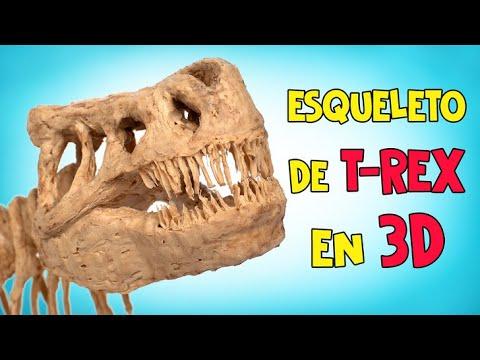 Hoy hacemos un esqueleto T-Rex en 3D, no es genial?🦖