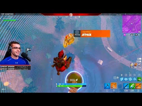 I picked up a Jetpack mid-air and then landed a trickshot! (Nick Eh 30's BEST Fortnite Moments #13)