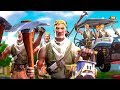 I Got 90 Players to PICKAXE NOOBS on Fortnite With Me... (default skin army)