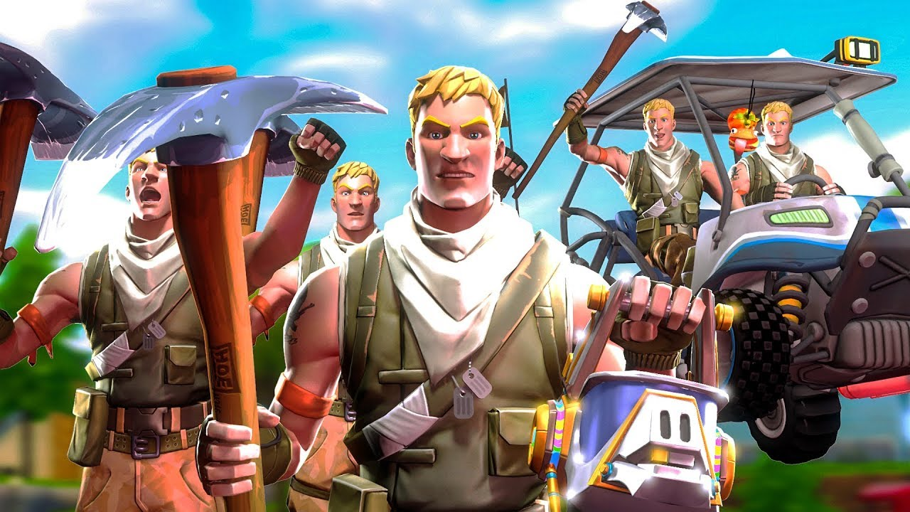 I got 90 players to pickaxe noobs on fortnite with me default skin army youtube - Fortnite default skin wallpaper ...