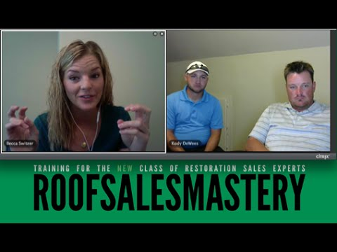 Roof Sales Mastery One Of The Best Door Knocking Tips