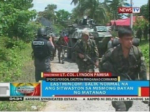 BP: AFP : Sitwasyon sa Matanao, Davao del Sur, balik-normal na matapos ang gulo roon