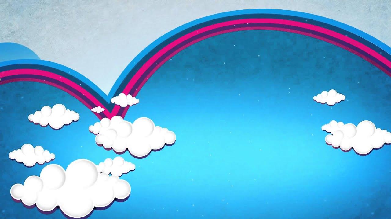 Background Infantil Arco Iris E Nuvens Youtube