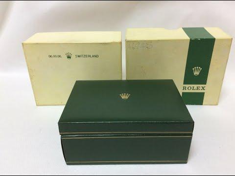 Rolex Vintage 06.00.06 Switzerland Watch Box 1960s / 70s For Sale