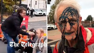 video: Ink-ulate Britain: Drivers take revenge as climate protesters block roads into London