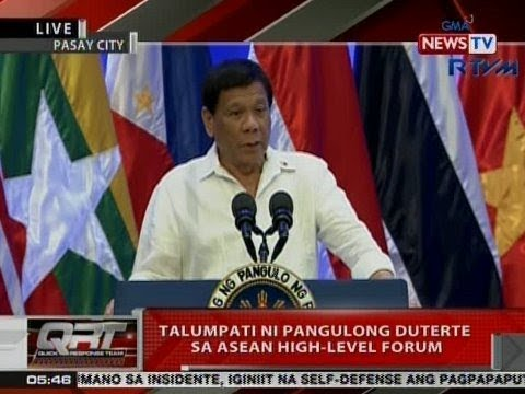 QRT: Talumpati ni Pangulong Duterte sa ASEAN High-Level Forum