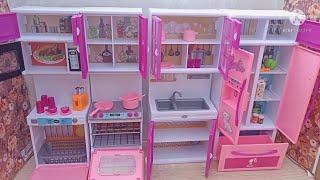Barbie dream house kitchen 🤩 unboxing video/shalini and yalini