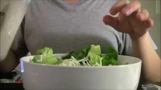Asmr: Shrimp Caesar Salad (eating/drinking Sounds & Whispering)