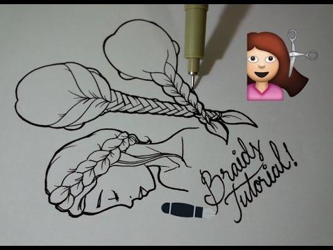 Tutorial: How To Draw Braids In 5 Ways
