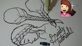 Tutorial: How To Draw Braids In 5 Ways