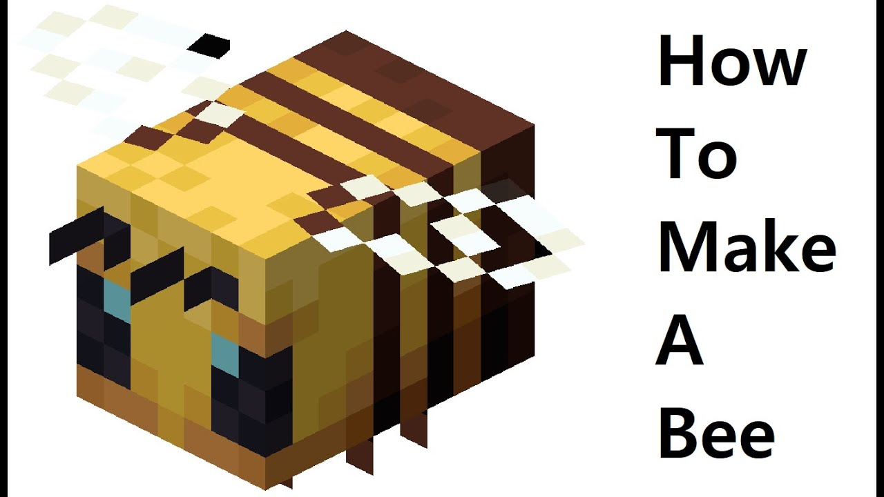 How to make a paper Bee ( Minecraft ) Papercraft toy Easy to make