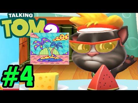 Mèo Tom Tô Tranh Cây Dừa Cực Đẹp   My Talking Tom 2 Tập 4  Top Game Mobile, Android, Ios