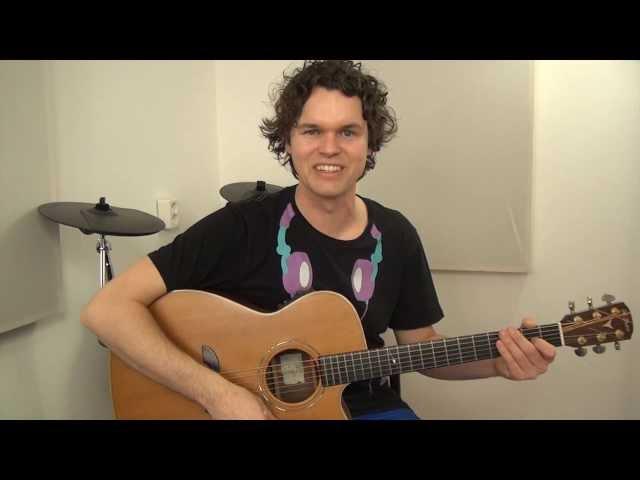 Avicii - Wake Me Up - gitaaruitleg - gitaarles