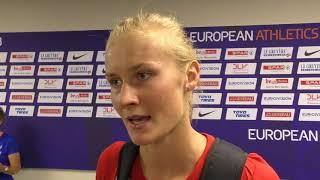 Michaela Hrubá po kvalifikaci výšky na ME 2018