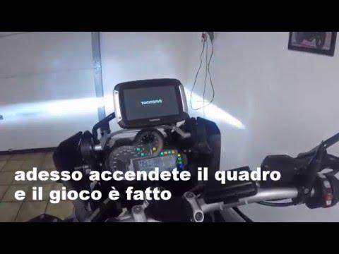 Installazione completa tomtom rider 400 su BMW R 1200 GS LC