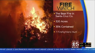 Bear Fire Fight Enters 4th Day In Santa Cruz Mountains