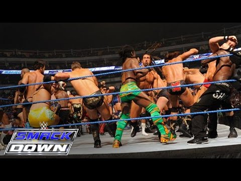 41 man battle royal for a championship match of winner s choosing smackdown october 14 2011