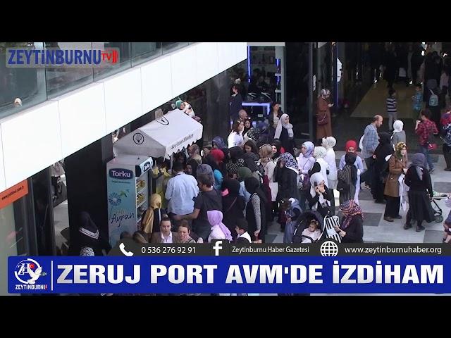 Zeruj Port AVM'de izdiham