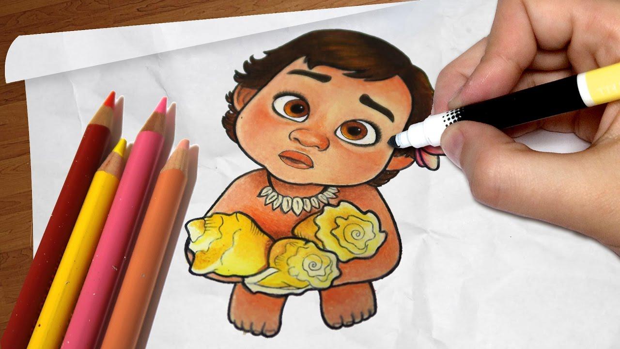 Como Desenhar A MOANA Bebê