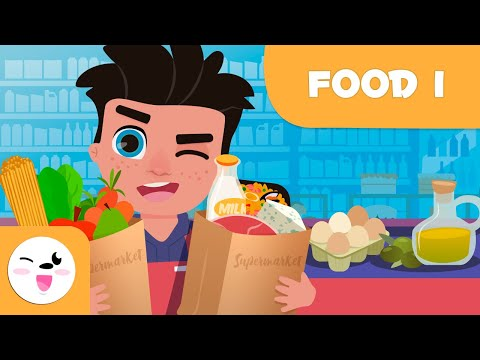 SUPERMARKET FOODS - Part 1 - Food Vocabulary for Kids