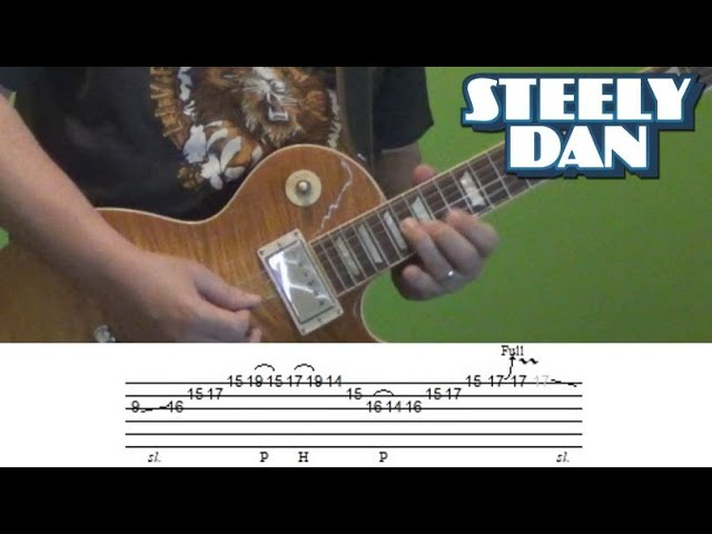 Guitar Lesson - Kid Charlemagne solo (Steely Dan) with Tabs!
