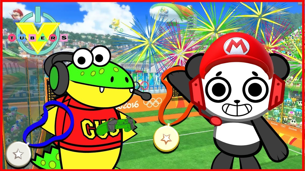 Mario Sonic Olympics Let S Play Combo Panda Vs Gus Youtube