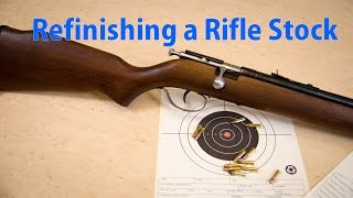 How To Refinish A Rifle Stock - A Woodworkweb Woodworking Video