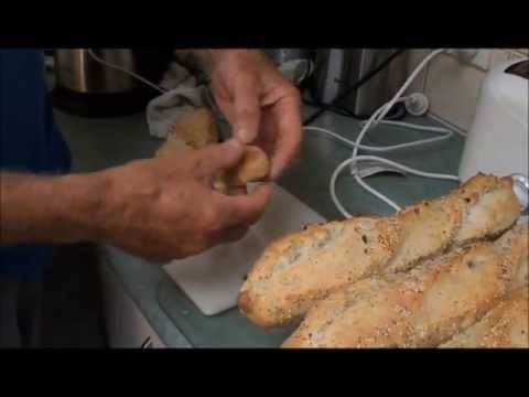 How to make Onion & Poppy Seed FRENCH BAGUETTES at Home..Part 2.