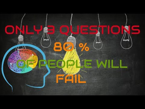 WORLD'S SHORTEST IQ TEST | CAN YOU SOLVE IT | 80% PEOPLE WILL FAIL