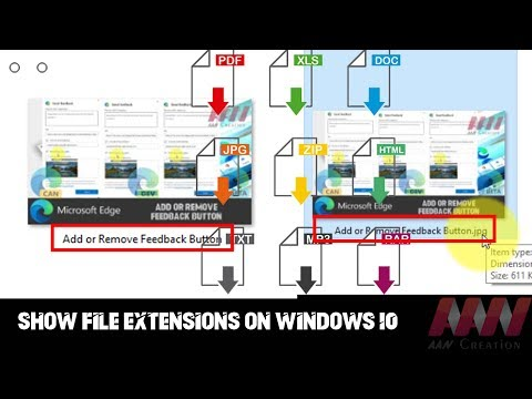 How to Show File Extensions on Windows 10