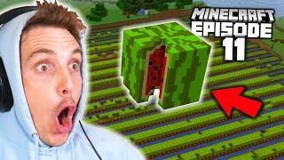 I Built a BIGGER Melon Farm Than LazarBeam!! (Minecraft Let's Play #11)